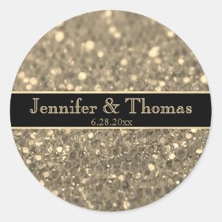 Gold Glitter Look Seal