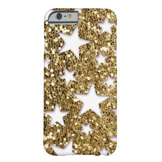 Gold Glitter Look Stars iPhone 6 Case