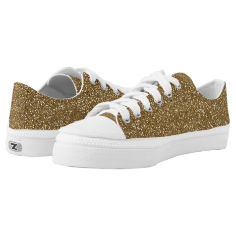 Gold Glitter Low Top Shoes