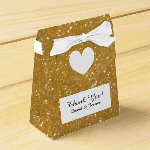 Wedding Favor Boxes Trinidad : Gold glitter luxury style wedding favor box zazzle