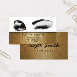 "Gold Glitter Mascara or Eyelashes Business Card<br><div class=""desc"">Gold Glitter Mascara or Eyelashes Business Card - Perfect for those beauty professionals Creative Mix - Design found on any other account besides Creative Mix, can be subject to a fine. In the United States copyright laws state, under section 17 U.S.C. 504, the consequences of copyright infringement include statutory damages...</div>"