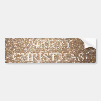Gold Glitter Merry Christmas Glamour Light Sparkle Bumper Sticker