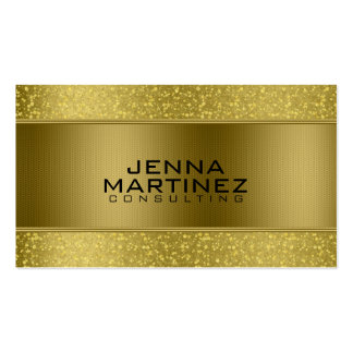 Gold Glitter & Metallic Silver Mash Consulting Business Card