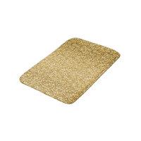 Gold Glitter Pattern Bathroom Mat