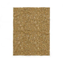 Gold Glitter Pattern ID144 Fleece Blanket