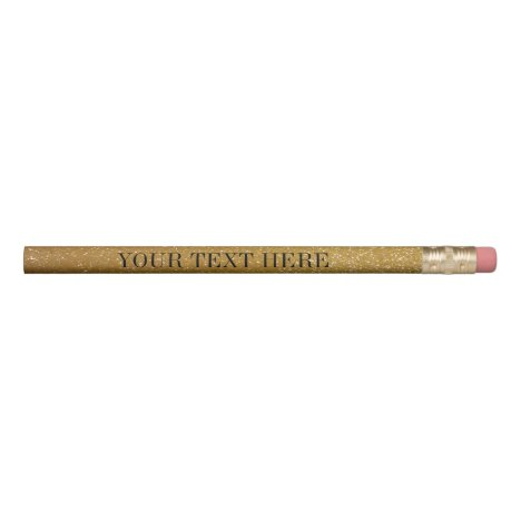 Gold glitter pencils with custom text