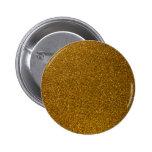 Gold Glitter Pinback Button