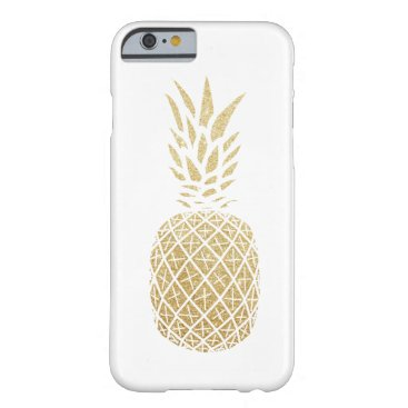 Hawaiian Themed Gold Glitter Pineapple Phone Case