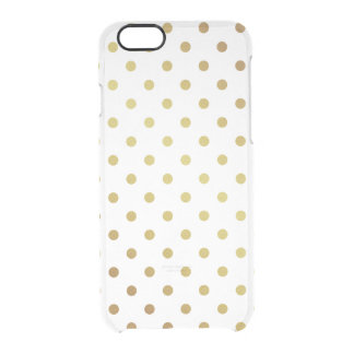 Gold Glitter Polka Dots Pattern Clear Transparent Uncommon Clearly™ Deflector iPhone 6 Case