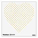 Gold Glitter Polka Dots Pattern Wall Decal