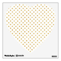 Gold Glitter Polka Dots Pattern Wall Decal