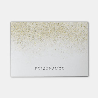 Gold Glitter Post-it Notes