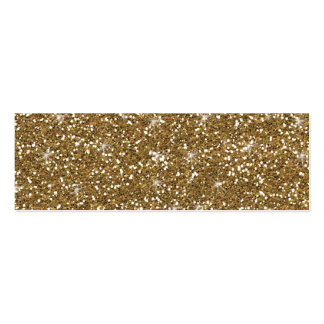Gold Glitter Printed Double-Sided Mini Business Cards (Pack Of 20)