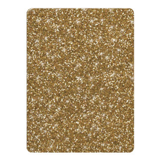 Gold Glitter Printed Card