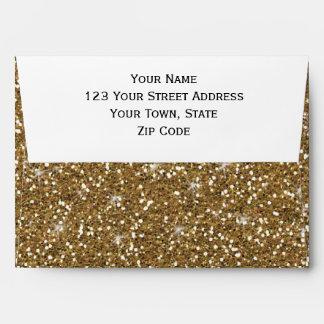Gold Glitter Printed Envelope