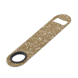 Gold Glitter Printed Speed Bottle Opener