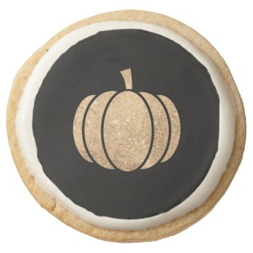 Halloween Themed Gold glitter pumpkin Halloween cookie