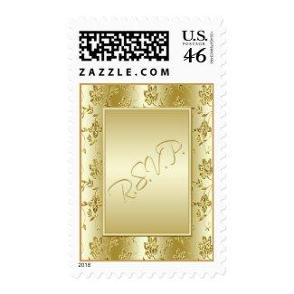 Gold Glitter RSVP Postage stamp