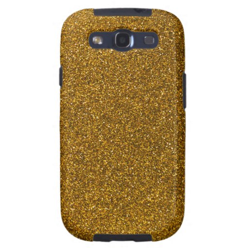 Gold Glitter Samsung Galaxy S3 Cases