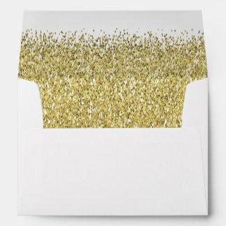 Gold Glitter Shimmer Envelope