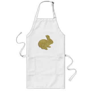 Gold Glitter Silhouette Easter Bunny Apron