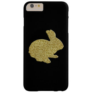 Gold Glitter Silhouette Easter Bunny iPhone 6 Case