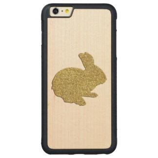 Gold Glitter Silhouette Rabbit iPhone 6 Case Carved® Maple iPhone 6 Plus Bumper
