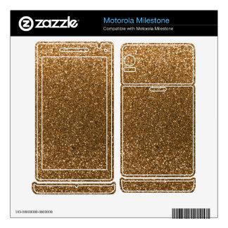 Gold glitter motorola milestone skins