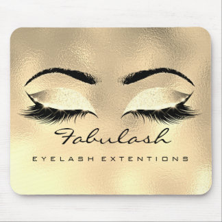 Gold Glitter SPA Beauty Lashes Extension Browns Mouse Pad