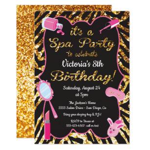 Spa Party Invitations Zazzle