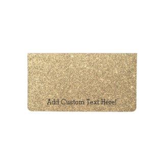 Gold Glitter Sparkle Pattern Background Checkbook Cover