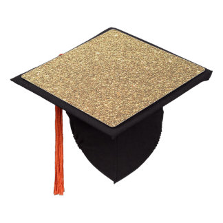 Gold Glitter Sparkle Pattern Background Graduation Cap Topper