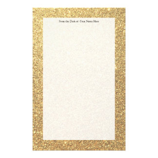 Gold Glitter Sparkle Pattern Background Stationery