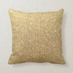Gold Glitter Sparkle Pattern Background Throw Pillow