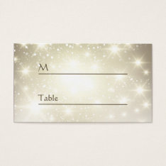 Gold Glitter Sparkles - Wedding Table Place Card at Zazzle