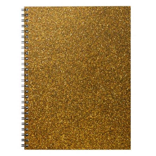 Gold Glitter Spiral Note Book