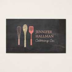 Gold Glitter Spoon Whisk Spatula Bakery Logo Ii Business Card at Zazzle