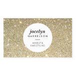 Gold Glitter Spotlight Makeup Artist, Stylist Business Card
