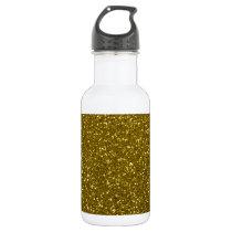 Gold Glitter Stainless Steel Water Bottle