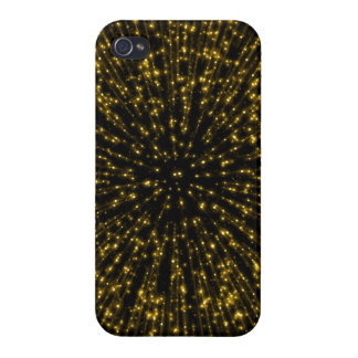 Gold Glitter Starburst Sunburst Firework Sparkle iPhone 4/4S Cover