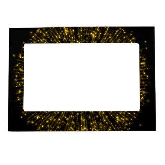 Gold Glitter Starburst Sunburst Firework Sparkle Magnetic Picture Frame