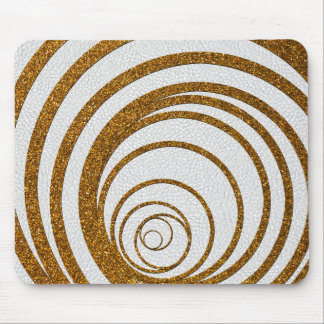 Gold Glitter Swirly Mouse Pad
