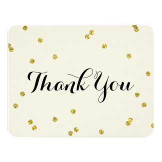 Gold Glitter | Thank You Cards
