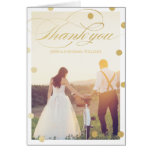 Gold Glitter Thank You Cards | Wedding