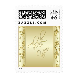 Gold Glitter Thank You Postage stamp