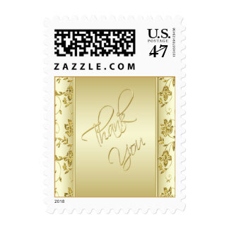 Gold Glitter Thank You Postage
