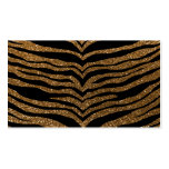 Gold glitter tiger stripes business card