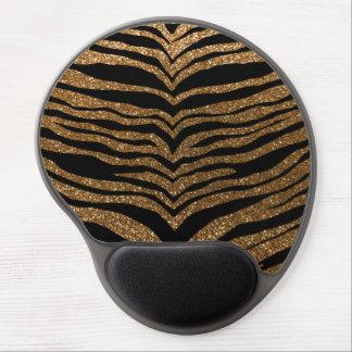 Gold glitter tiger stripes gel mouse mats