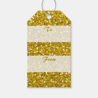 Gold Glitter To From Merry Christmas Pack Of Gift Tags