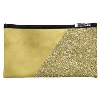 Gold Glitter Trendy Modern Cosmetic Bag